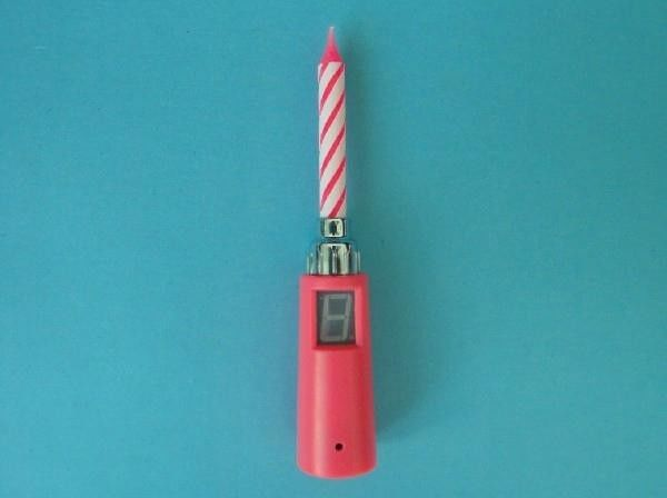 Funny Pink Spiral Core Single Singing Birthday Candle No Wax Dripping Eco Friendly