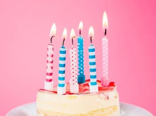 Spiral And White Dots Printable Birthday Candles With Holders For Cake Decorations
