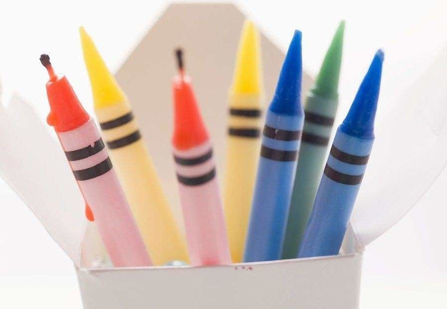 Crayon Shape Unusual Birthday Cake Candles For Child Gift Biodegradable